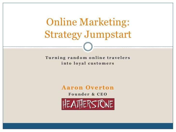 Online marketing strategy jumpstart