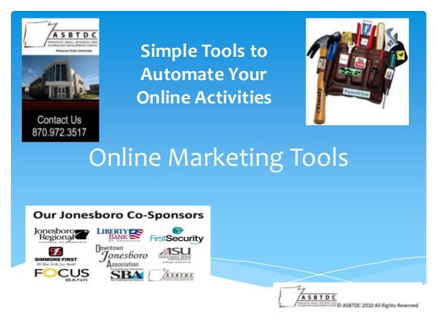 Online Marketing Tools Simple Tools to Automate Your Online Activities