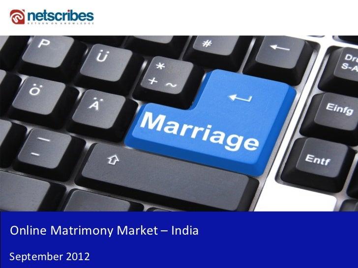 OnlineMatrimonyMarket– IndiaSeptember2012