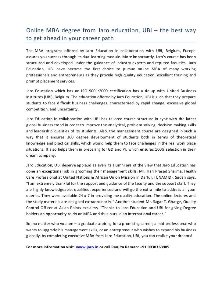 mba career path essay Job description essay 3 - career path and reasons for each choice job description essay 4 - short and long term career aspirations with or without insead mba.
