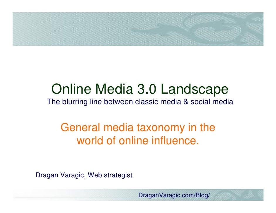 Online Media Landscape 3.0
