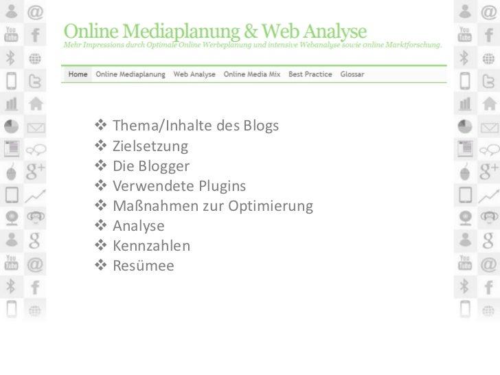 Präsentation Blogprojekt
