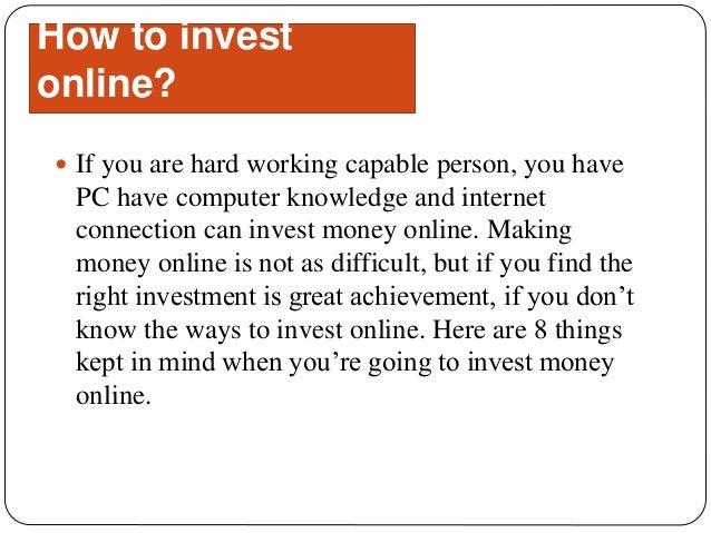 Online money investment