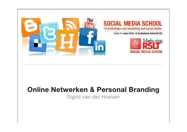 Workshop Networking & Personal Branding