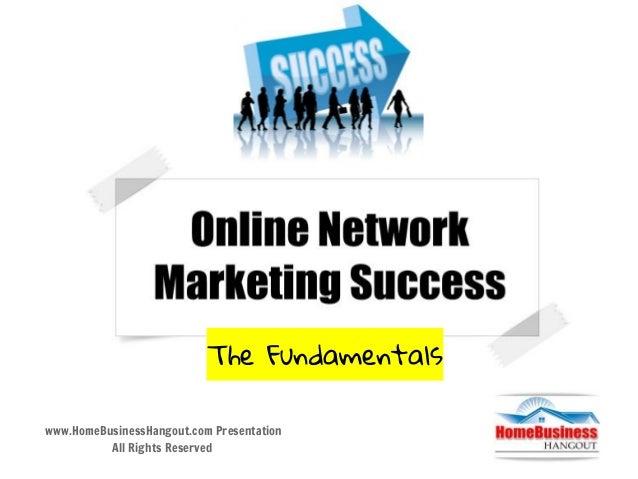 Online Network Marketing Success
