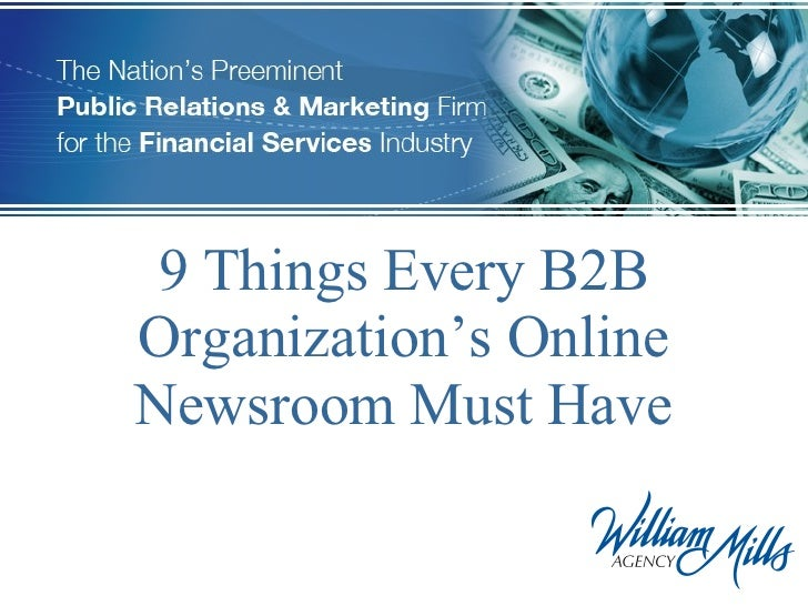 9 Things Every B2B Organization's Online Newsroom Must Have