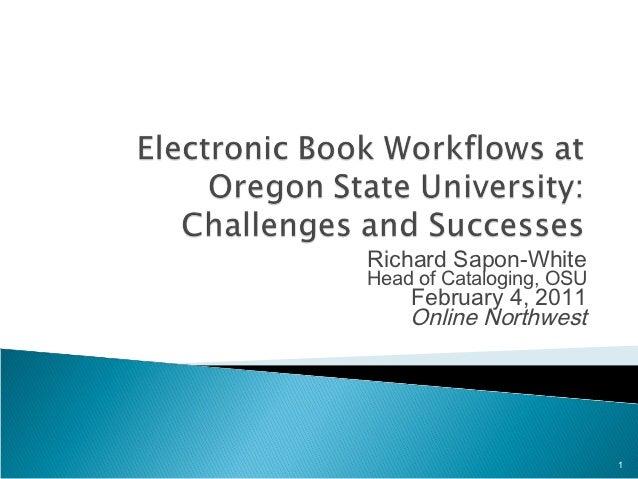 Online northwest 2011 on ebook workflows