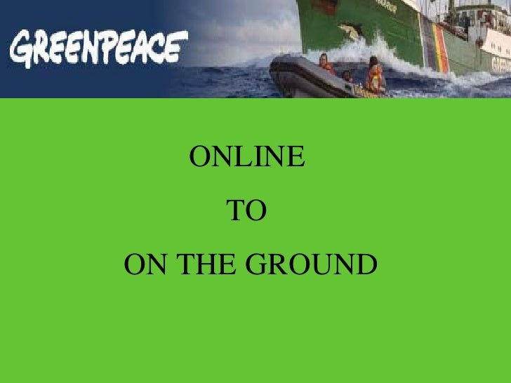 ONLINE  TO  ON THE GROUND