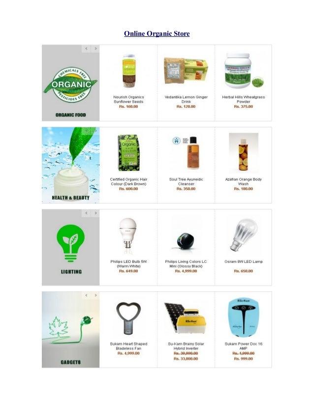 Online Organic Store