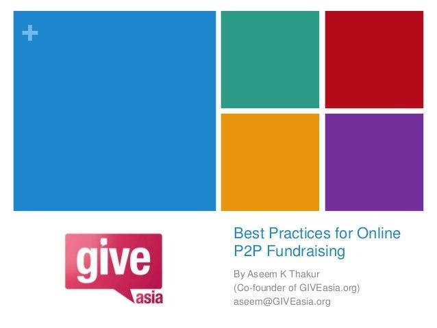 Online Peer-to-Peer Fundraising Best Practices