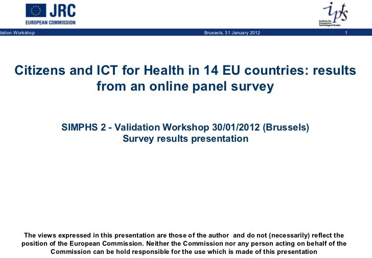 Citizens and ICT for Health in 14 EU countries: results from an online panel survey (14,000 responses)