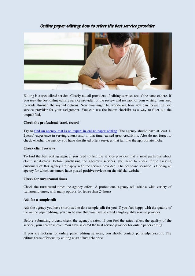 Our Company's College essay editing & proofreading service.