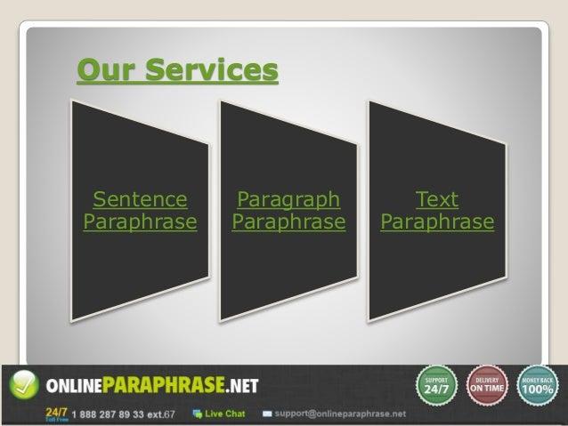 Paraphrase a sentence online