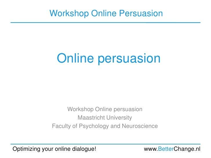Online persuasion