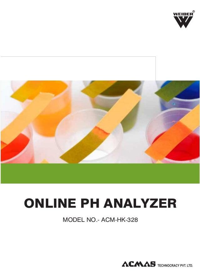 R  ONLINE PH ANALYZER MODEL NO.- ACM-HK-328