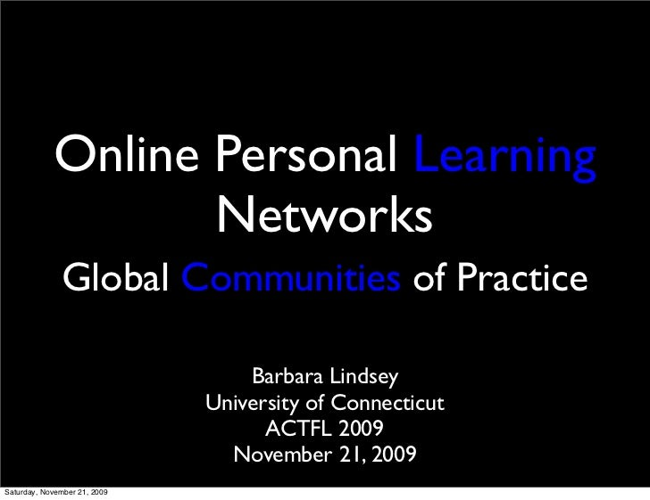 Online Personal Learning Networks