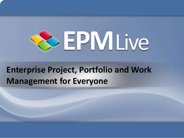 Online Enterprise Project Management by EPM Live