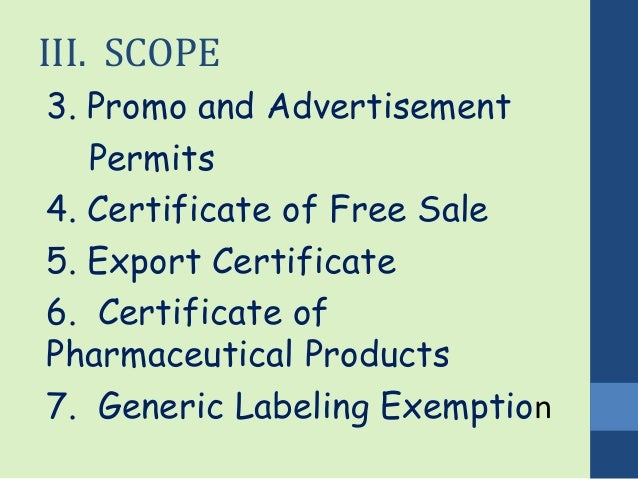 Sales Certificate Format Certificate of Free Sale 5