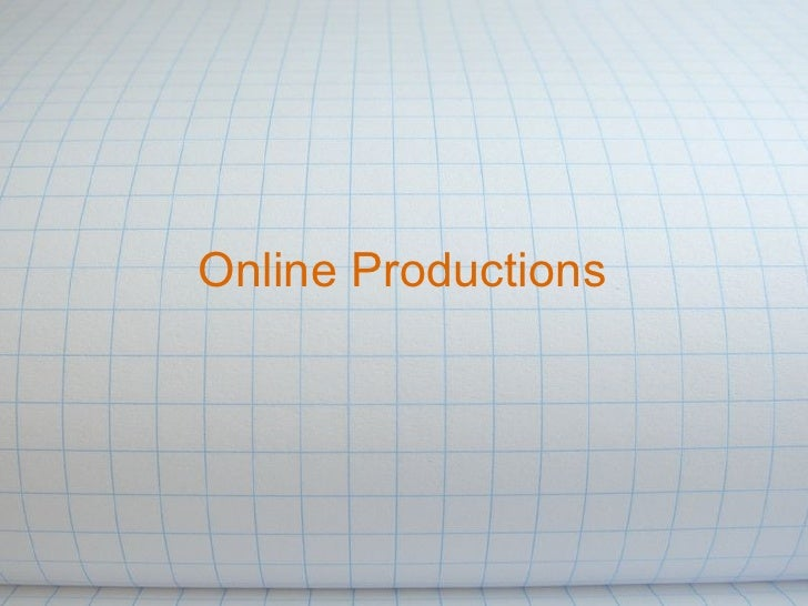 Online Productions