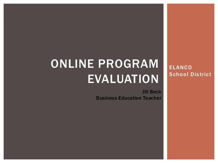 Online program evaluation
