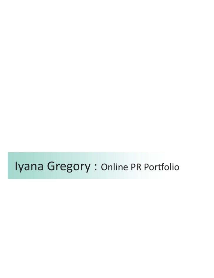 Online PR Portfolio