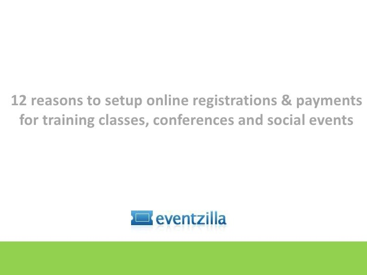Accepting Registrations and payments for training classes, conferences and social events<br />