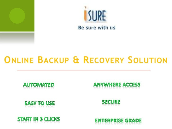 Online Backup & Recovery Solution<br />Anywhere Access<br />Automated<br />Secure<br />Easy to Use<br />Start in 3 Clicks<...