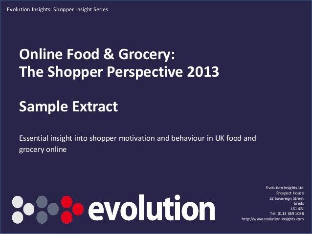 Online report 2013 sample extract