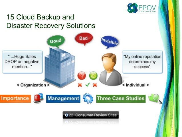 15 Cloud Backup andDisaster Recovery Solutions