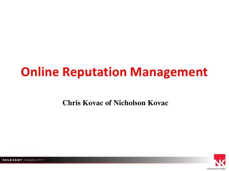 Online reputation management in social media for travis wright