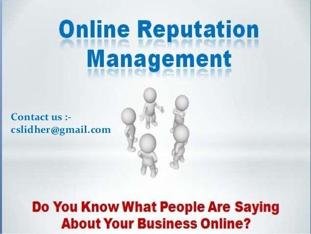 Online reputation mangement