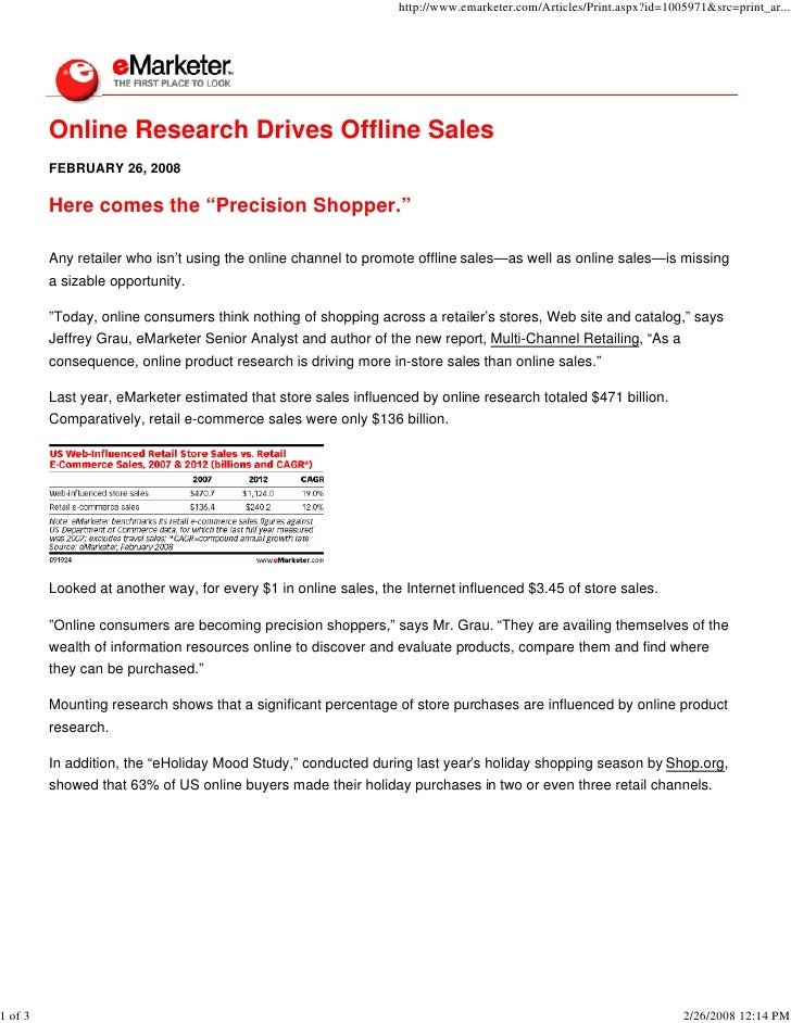 Online Research Drives Offline Sales E Marketer02 26 2008
