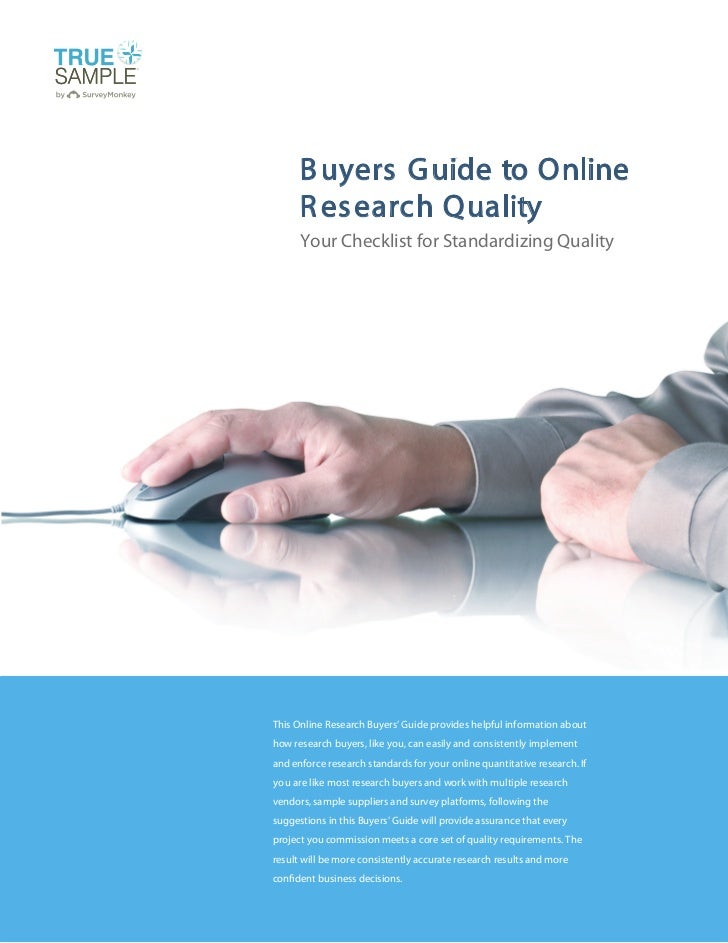 Online Research Quality Buyers Guide
