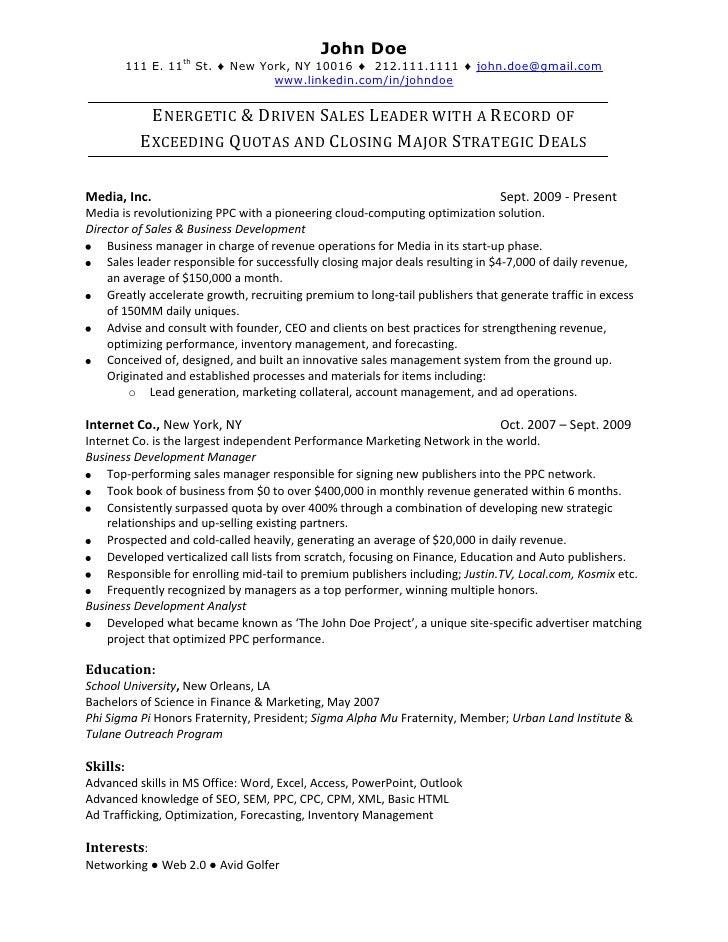 online sales resume ~ Yangoo.org