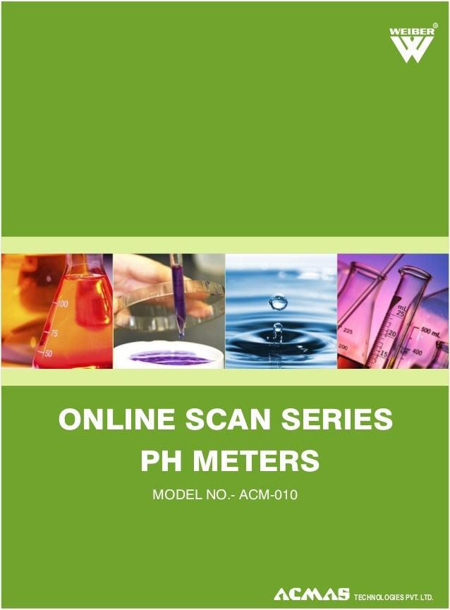 Online Scan Series pH Meters by ACMAS Technologies Pvt Ltd.