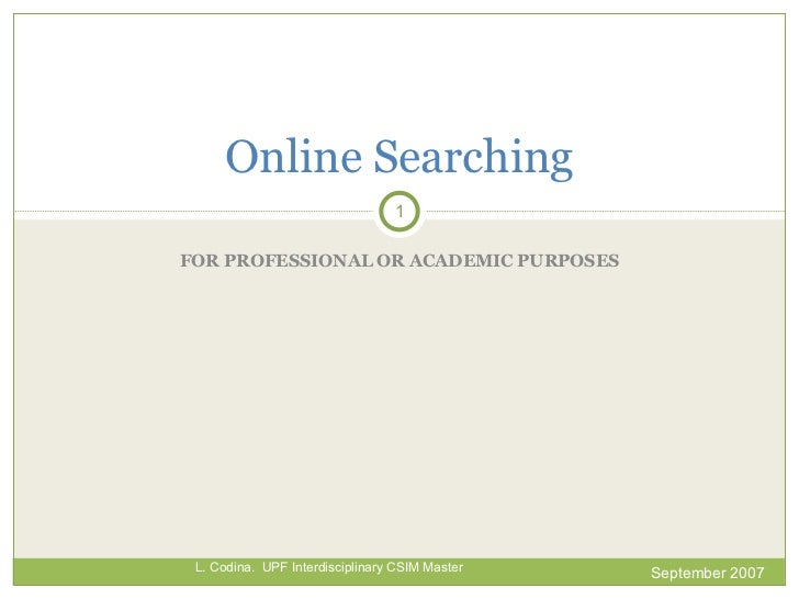 Online Searching