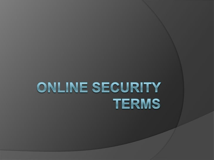 Online security terms