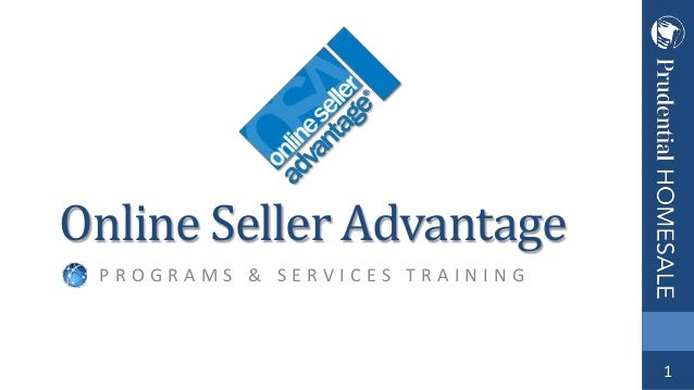 Online Seller Advantage PROGRAMS & SERVICES TRAINING  1