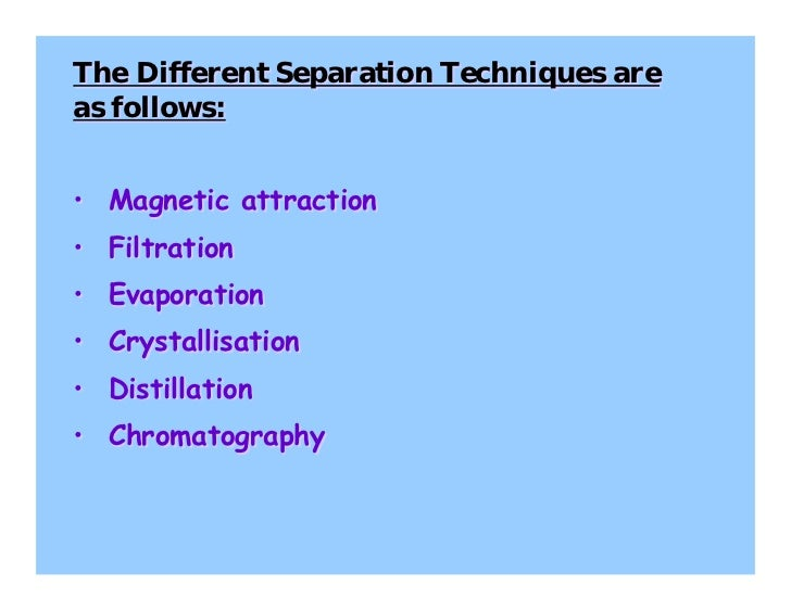 separation techniques Worldwide scientific leaders are gathering from europe, usa (america), middle  east, asia at separation techniques conferences, membrane separations.