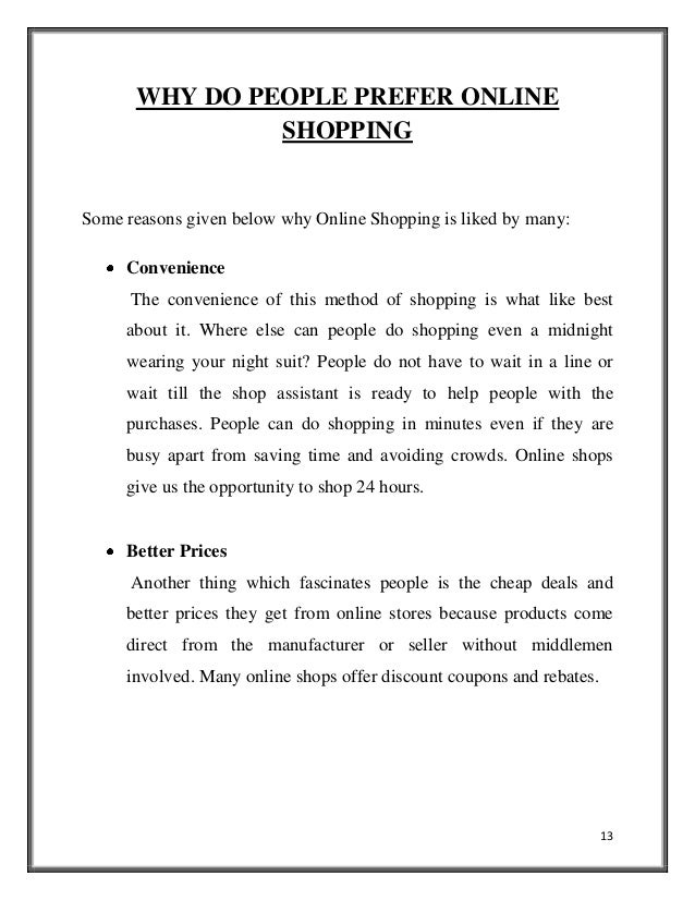 Do sales benefit shoppers essay