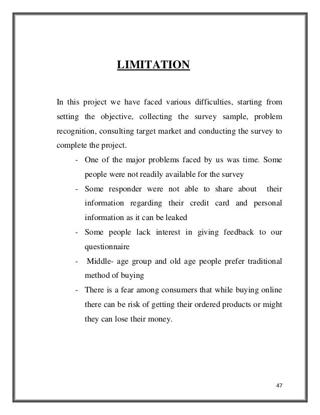 scope of limitations thesis examples