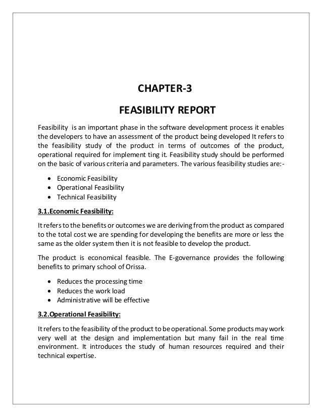 Components Of Feasibility Study In System Analysis And Design