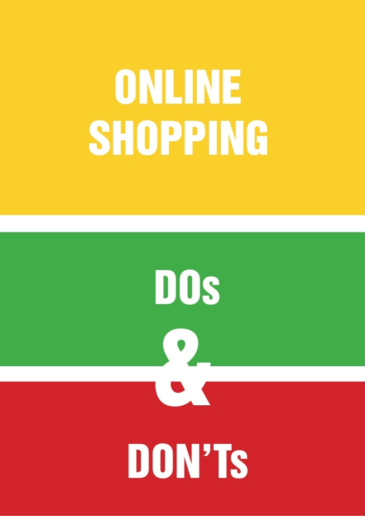 ONLINESHOPPING  DOs  & DON'Ts