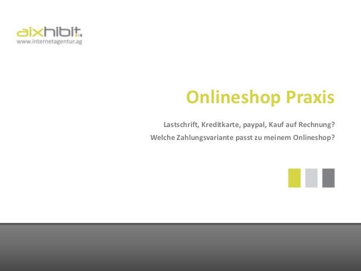 Zahlungssysteme für Onlineshops