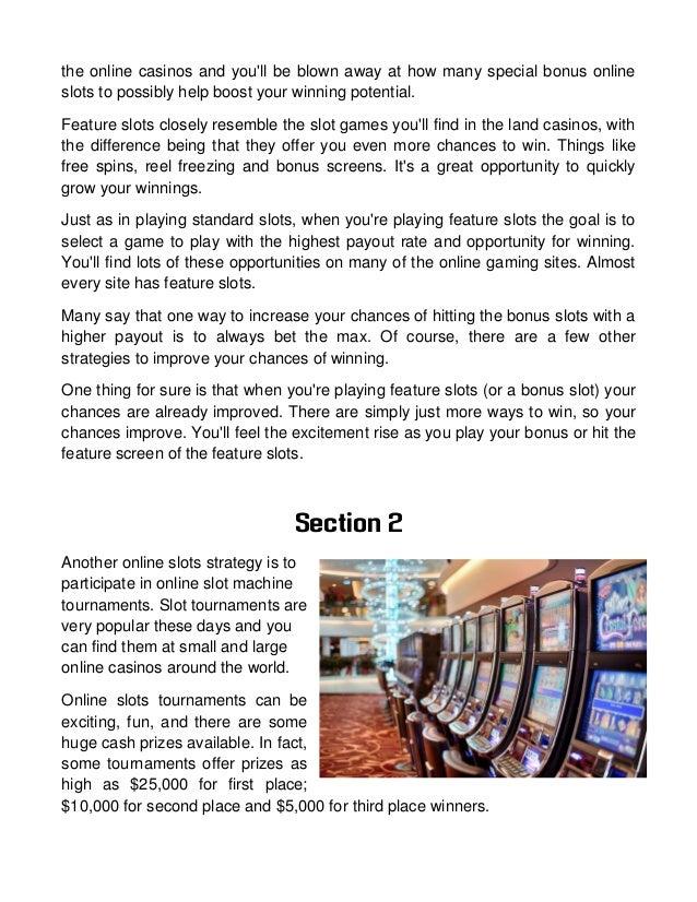 Chances of winning slots