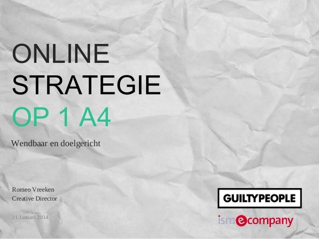 Online Strategie op 1 A4