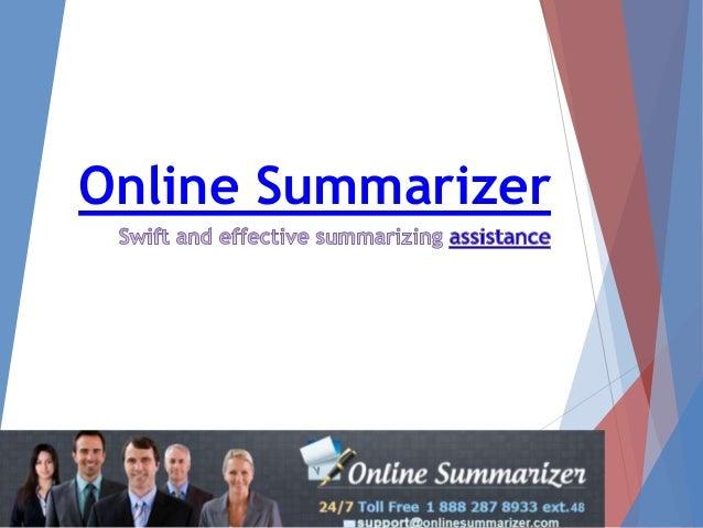 Online summariser