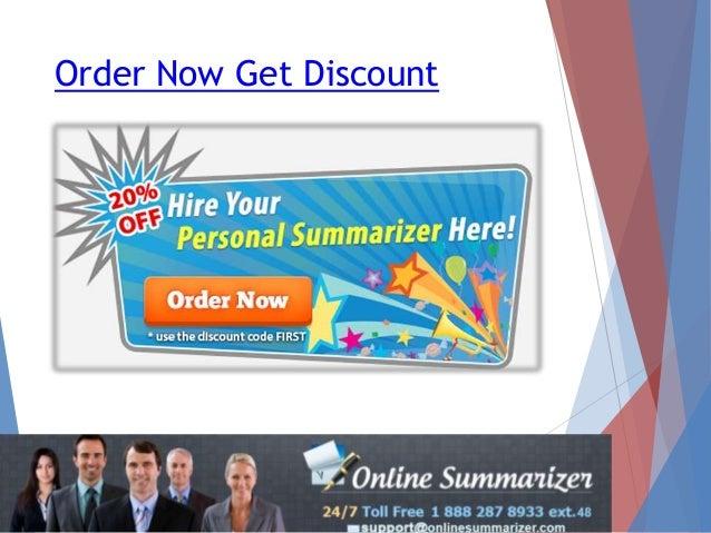 Online summerizer