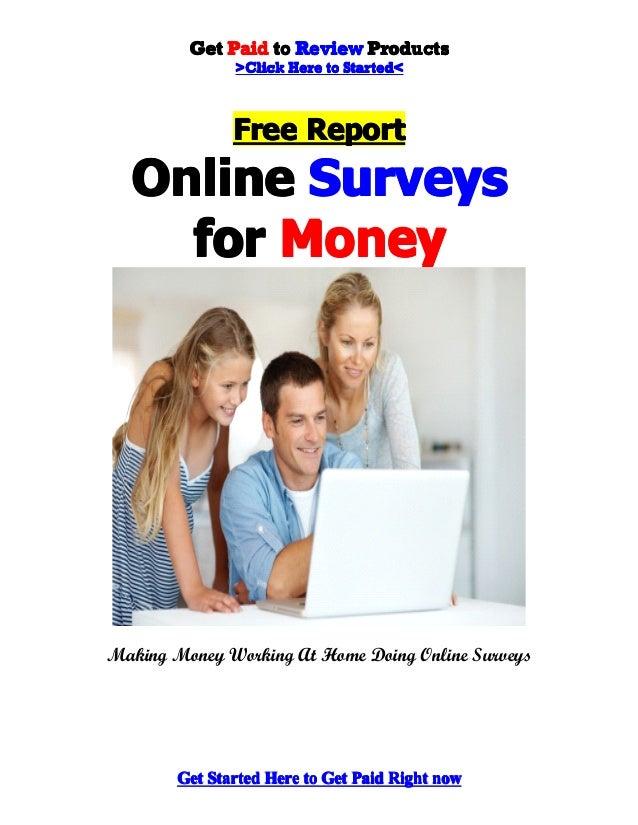 Online Surveys for Money - Make Money Doing Online Surveys