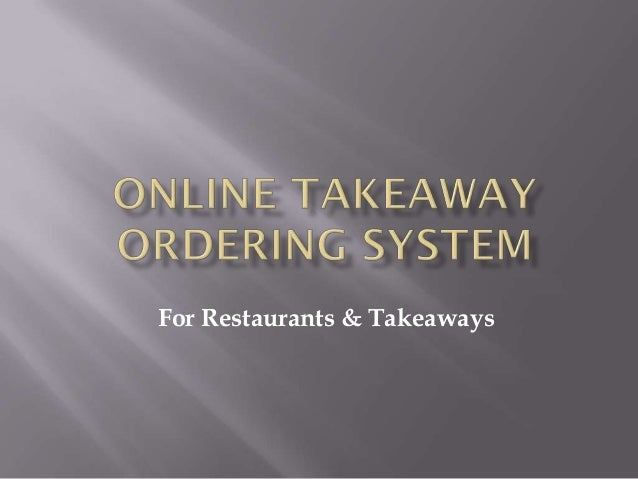 Online takeaway ordering system